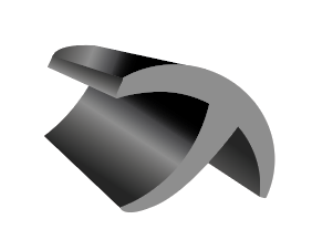 A 3D rendered T shaped rubber shape